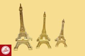 Torre Eiffel Dourada, de Tamanhos: Pequeno, Médio e Grande
